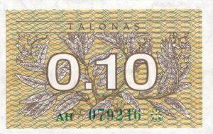 0.10 Talono banknotas su klaida 1991m, aversas https://www.manokolekcija.lt