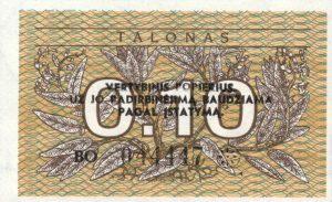0.10 Talono banknotas 1991m, aversas https://www.manokolekcija.lt