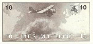 10 Litu banknotas 1991m, reversas https://www.manokolekcija.lt