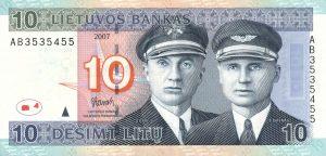 10 Litu banknotas 2007m, aversas https://www.manokolekcija.lt