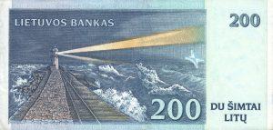 200 Litu banknotas 1997m, reversas https://www.manokolekcija.lt