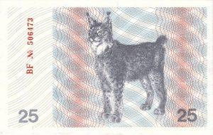 25 Talonu banknotas 1991m, reversas https://www.manokolekcija.lt