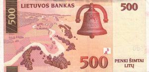 500 Litu banknotas 2000m, reversas https://www.manokolekcija.lt