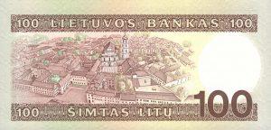 100 Litu banknotas 1994m, reversas https://www.manokolekcija.lt