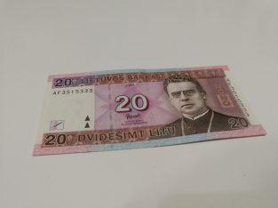 20 Litų banknotas