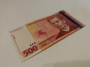500 Litų banknotas