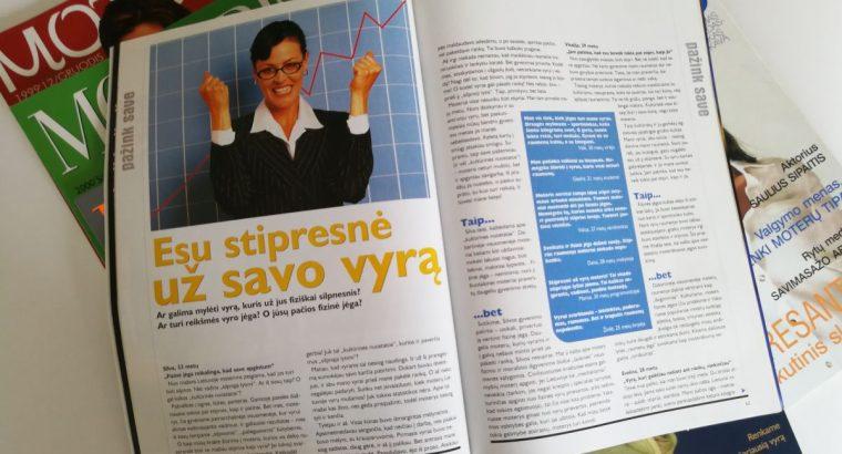 """11 skirtingų žurnalų """"Moteris"""" numerių"""