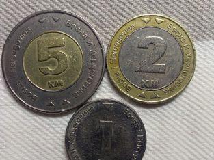 Bosnijos ir Hercegovinos monetų rinkinys.