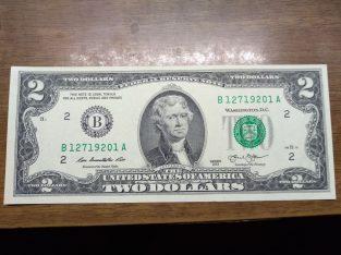 2 doleriai Unc JAV