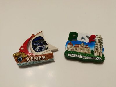 Du originalūs magnetukai iš Pizos Italija ir Kemero Turkija