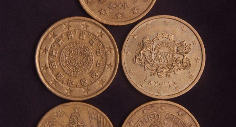 Penkių 50 Euro centų monetų kolekcija