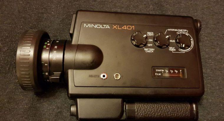 Retro filmavimo kamera Minolta xl401 8mm