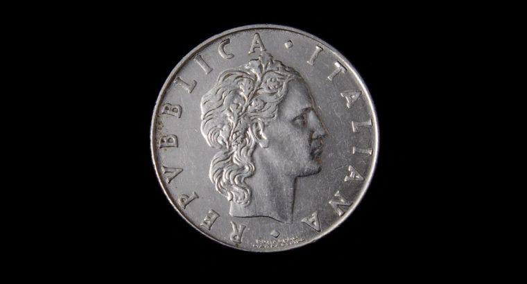 1977 metu Italijos L.50 moneta