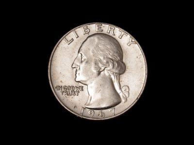 Ketvirčio dolerio moneta 1967m