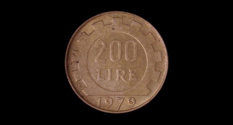 200 Italijos lyrų moneta