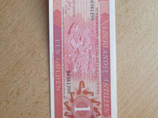 1 gulden , Nyderlandu Antilai , 1970 unc