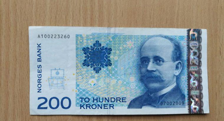 200 Norvegijos kronų