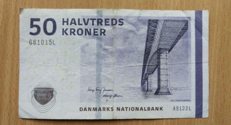 50 Danijos kronų banknotas