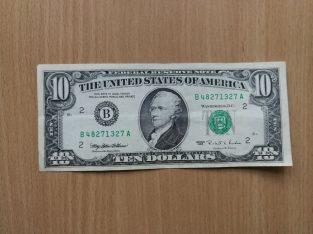 10 dolerių baknotas