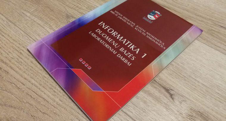 Knyga Informatika 1. Duomenų bazės. Laboratoriniai darbai