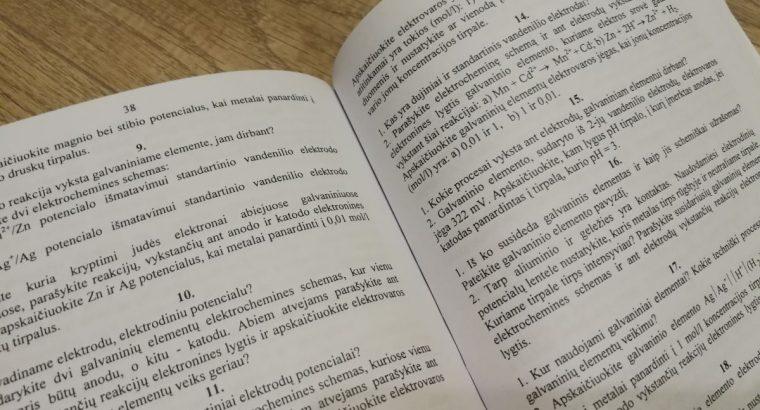 Mokomoji knyga Bendrosios chemijos laboratorinių darbų individualios užduotys