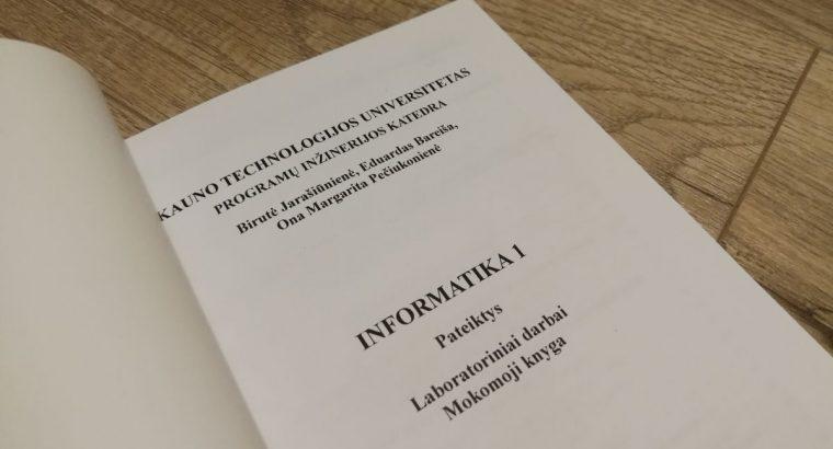Mokomoji knyga Informatika1. Pateiktys. Laboratoriniai darbai
