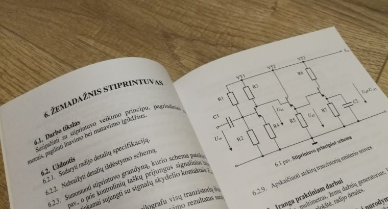 Mokomoji knyga Elektronikos Praktikos darbai