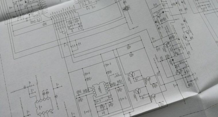 Originali SONY LCD televizoriaus KLV-S40A10E elektronikos schema