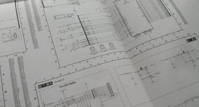 Originali Philips televizoriaus 42PFL7603H elektronikos schema