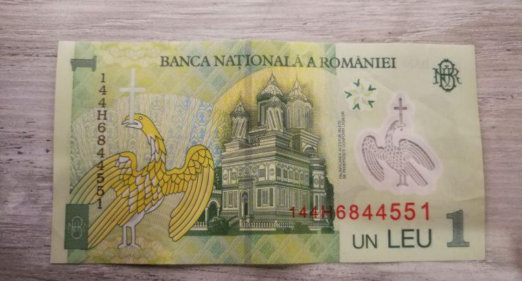 1 Rumunijos Lėja banknotas