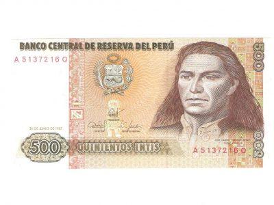 500 Peru Inčių banknotas