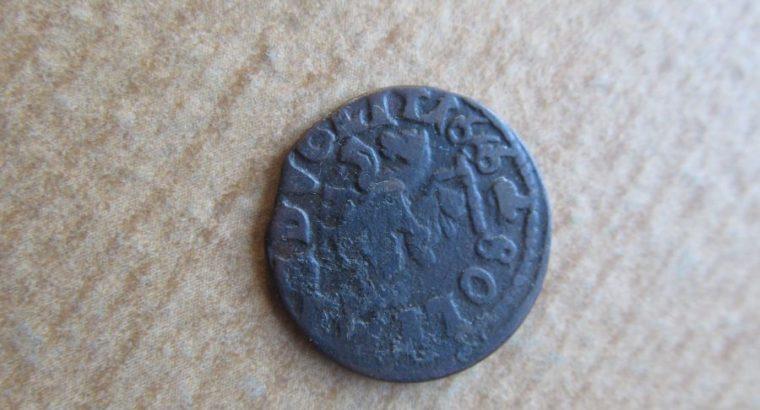 Šilingas boratinka , LDK , 1666