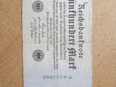 500 mark , Vokietija , 1922