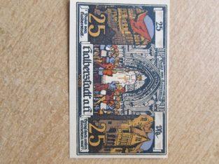 Notgeldas 25 pfennig , Halberstadt , 1921 unc