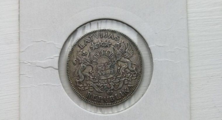 Vieno lato sidabrinė moneta 1924 metai