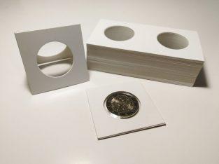 50 kartoniniai laikikliai monetoms su 29mm diametro langu