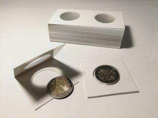 25 kartoniniai laikikliai monetoms su 29mm diametro langu