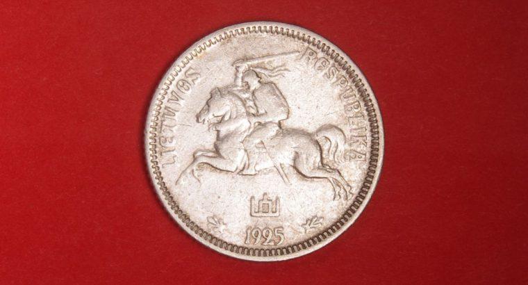 Sidabrine vieno lito tarpukario moneta 1Lt