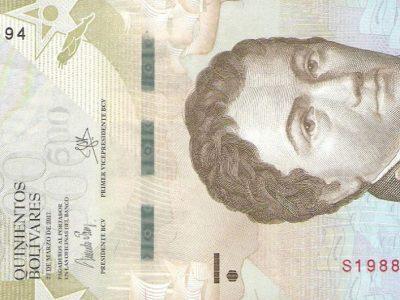 500 Venesuelos bolivarų banknotas, UNC