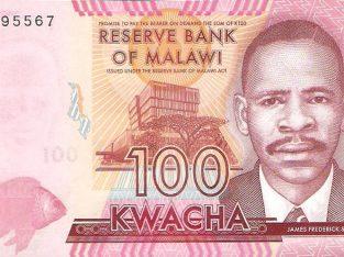 100 Malavio kvačių banknotas UNC