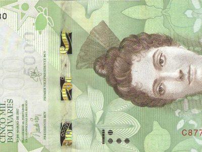 5000 Venesuelos bolivarų banknotas, UNC