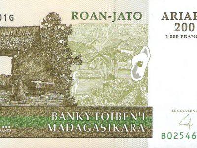 200 Madagaskaro ariarių banknotas, UNC
