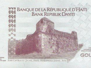 10 Haičio gurdų banknotas, UNC