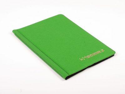 Žalias 96 monetų dėklas SCHULZ su 33mm x 33mm kišenėlėmis