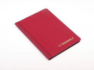 Raudonas 96 monetų dėklas SCHULZ su 33mm x 33mm kišenėlėmis