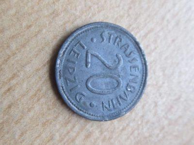 Notgeldas 20 pfennig , Leipzig