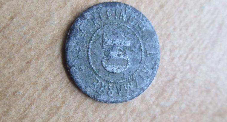 Notgeldas 10 pfennig , Giessen , 1918