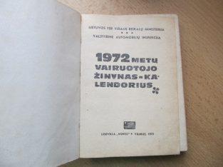 1972 vairuotojo žinynas, kalendorius