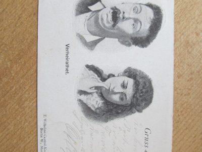 Įdomus vokiškas atvirukas 1898