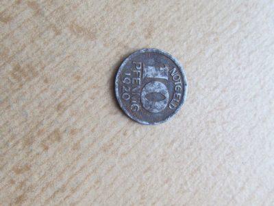 Notgeldas 10 pfennig , Halle , 1920